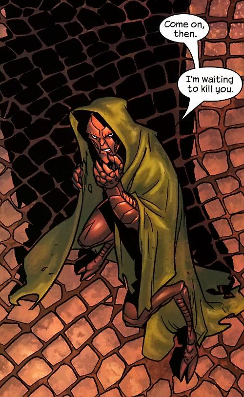 Ultimate Doctor Doom (Ultimate Marvel Comics) on brown pavement
