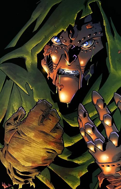 Ultimate Doctor Doom (Ultimate Marvel Comics) sick and damaged