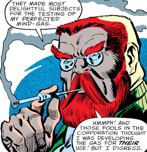 Doctor Faustus (Marvel Comics) smoking and boasting