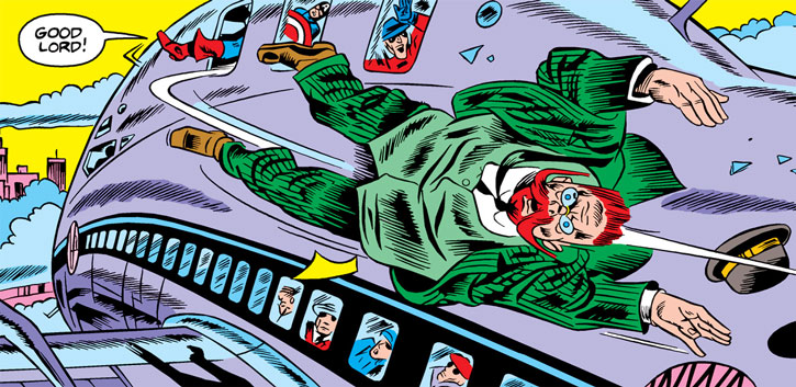 Doctor Faustus (Captain America enemy) (Marvel Comics) sucked out of a plane