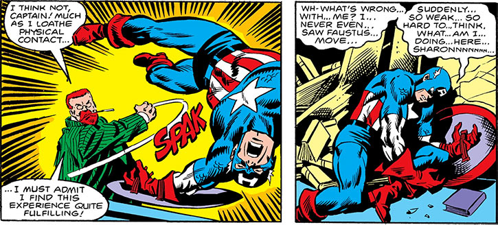 Doctor Faustus punching Captain America out