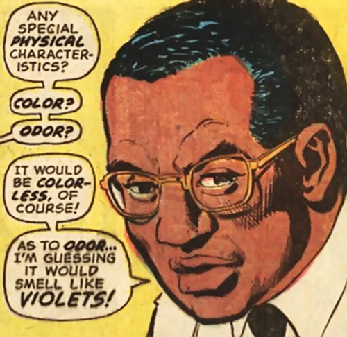 Doctor Harris Blaine (Batman ally) (DC Comics) face closeup