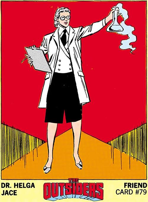 Dr. Helga Jace (DC Comics / Outsiders) friend card