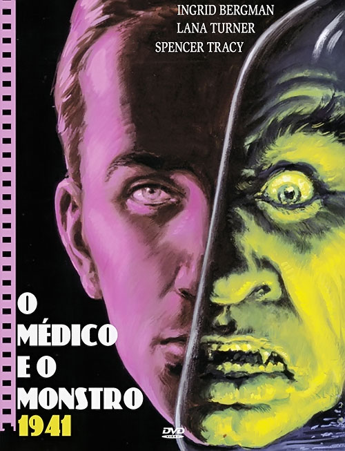 Doctor Jekyll and Mister Hyde - Brazilian movie poster, Spencer Tracy version