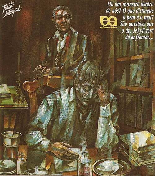 Doctor Jekyll and Mister Hyde - novel cover in Portuguese
