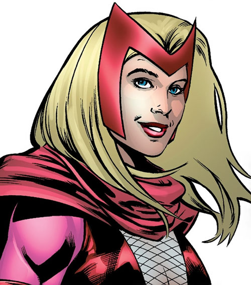 Dr. June Covington (Toxic Doxie) (Avengers / Thunderbolts enemy) (Marvel Comics) scarlet witch costume closeup