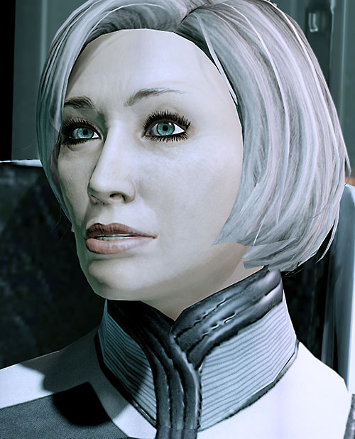 Dr. Chakwas (Mass Effect) face closeup