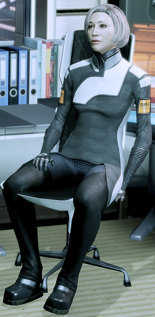 Dr. Chakwas (Mass Effect) in her chair
