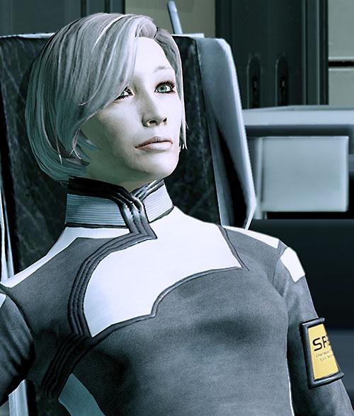 Dr. Chakwas (Mass Effect) pensive