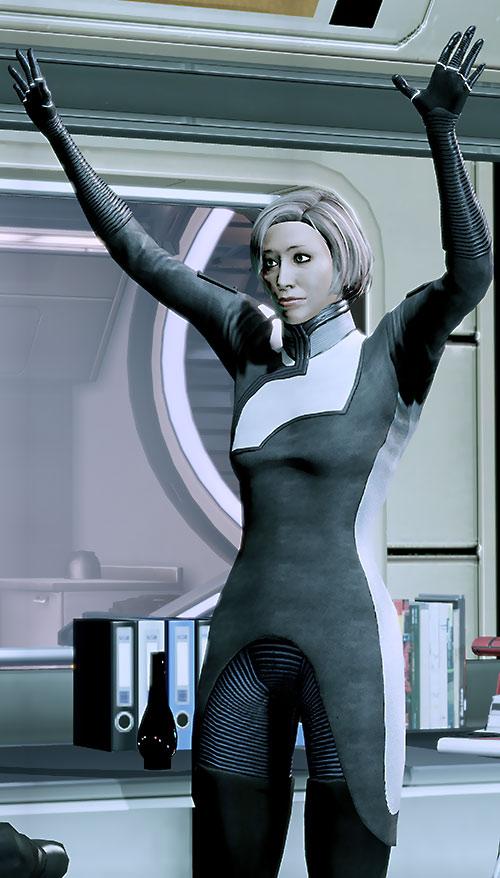 Dr. Chakwas (Mass Effect) cheering