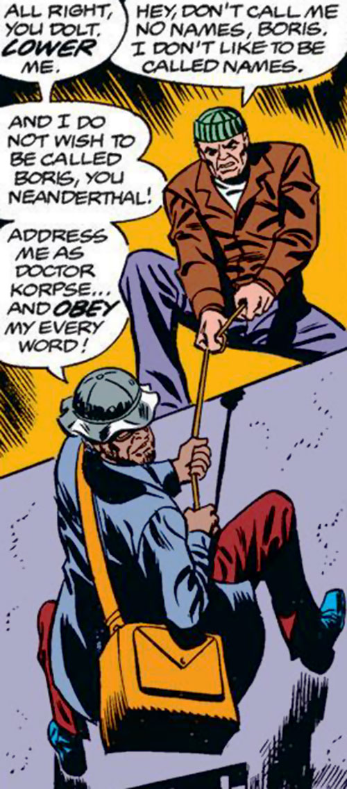 Boris Korpse and Bruno Grainger (Spider-Man enemies) (Marvel Comics) breaking and entering
