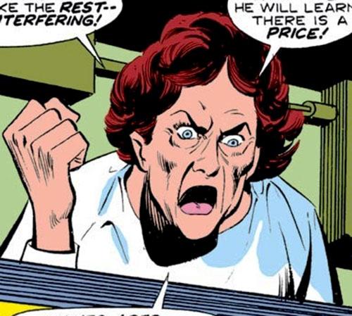 Doctor Kurrarkill (Iron Man enemy) (Marvel Comics) yelling