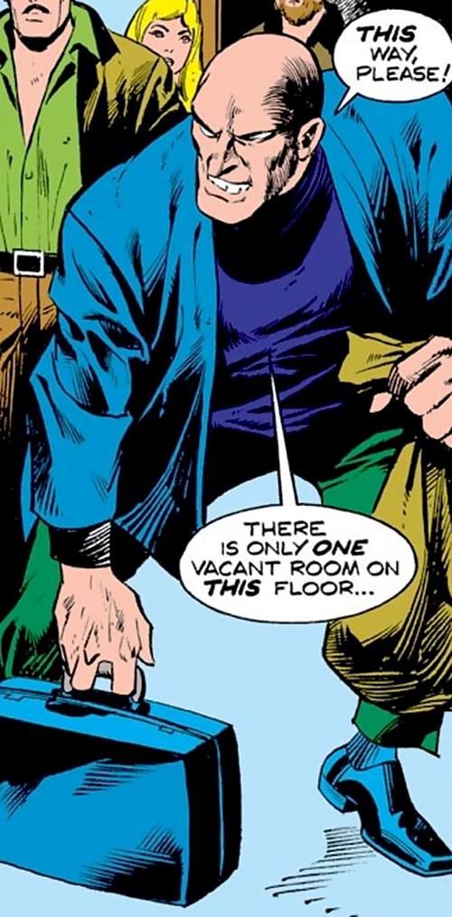 Quasar the Future Man (Iron Man enemy) (Marvel Comics) with a blue vest