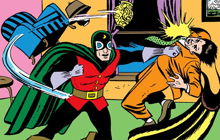 Doctor Mid-Nite (DC Comics) (McNider) living room brawl (1940s art)