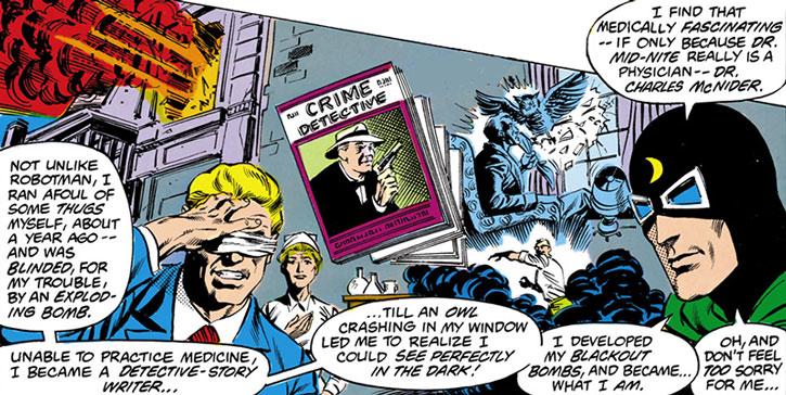Doctor Mid-Nite recaps his origin