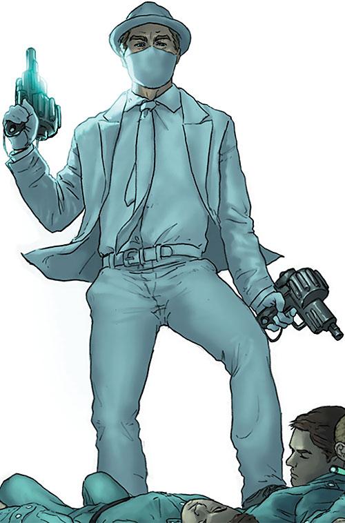 Doctor Nemesis of the X-Club and X-Men (Marvel Comics) dual-wielding pistols
