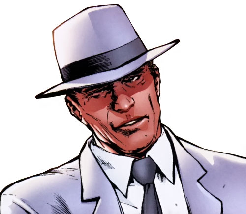 Doctor Nemesis of the X-Club and X-Men (Marvel Comics) face closeup with hat
