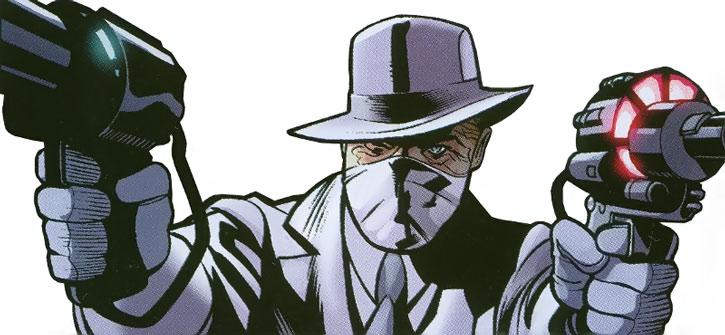 Doctor Nemesis dual-wielding science pistols
