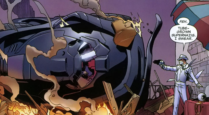 Doctor Nemesis taunts tube-grown super-Nazis