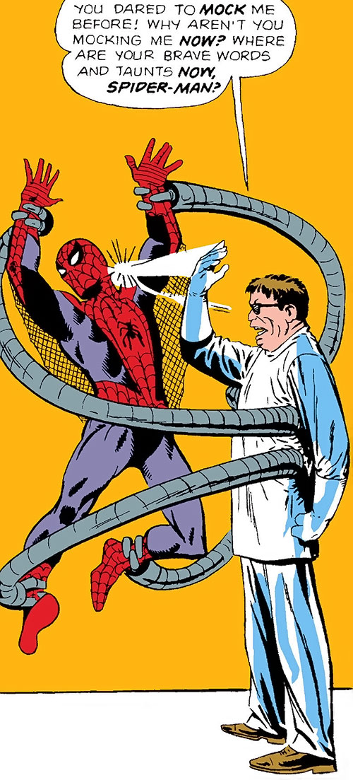 Doctor Octopus (Marvel Comics) slaps Spider-Man