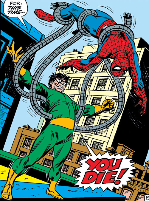 Doctor Octopus (Marvel Comics) defeats Spider-Man