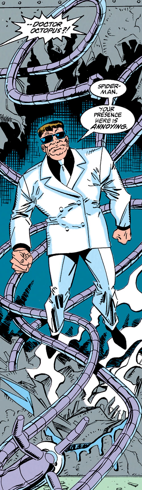 Doctor Octopus (Spider-Man enemy) in a white suit