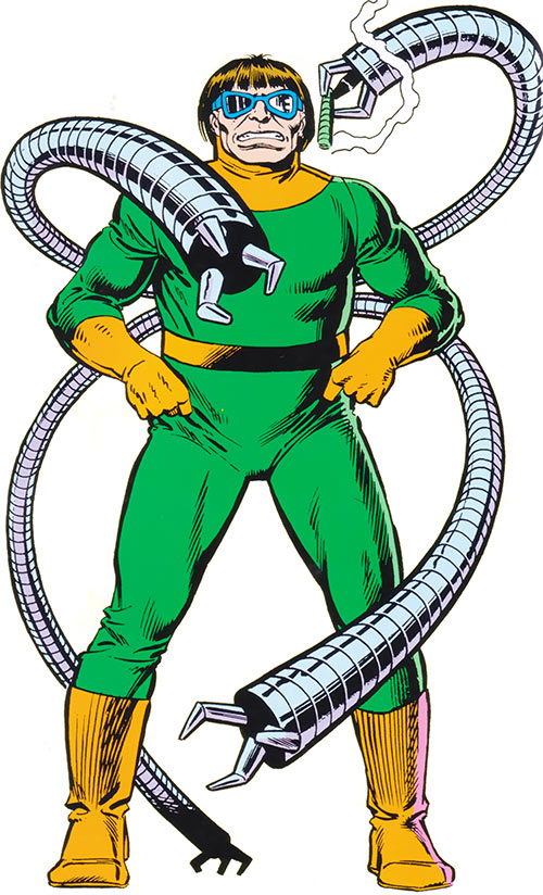 Doctor Octopus in the 1983 Official Marvel Comics Handbook