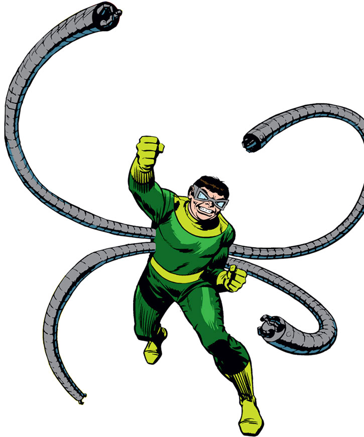Doctor Octopus vintage shot on white background