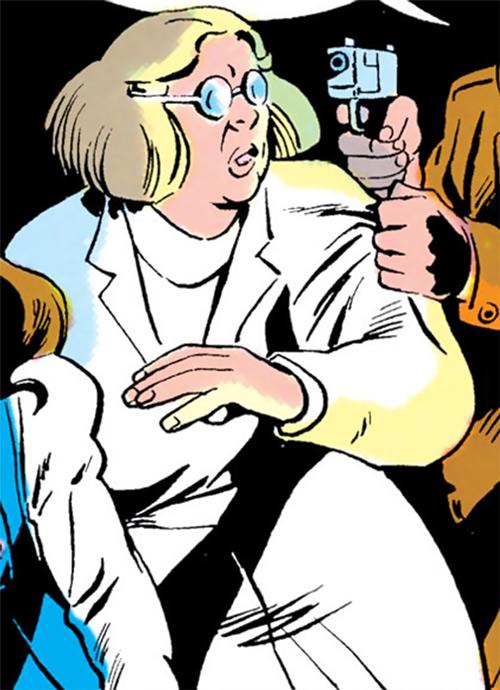 Madame Ovary (Outsiders character) (DC Comics) (Doctor Ovarni) threatened
