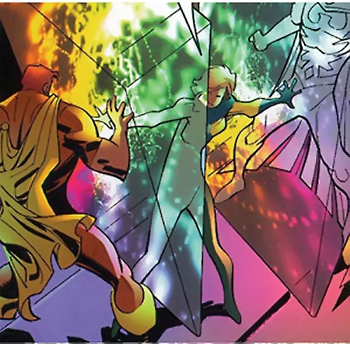 Doctor Spectrum (Nugent) (Thunderbolts enemy) (Marvel Comics) vs. Hyperion and Nighthawk