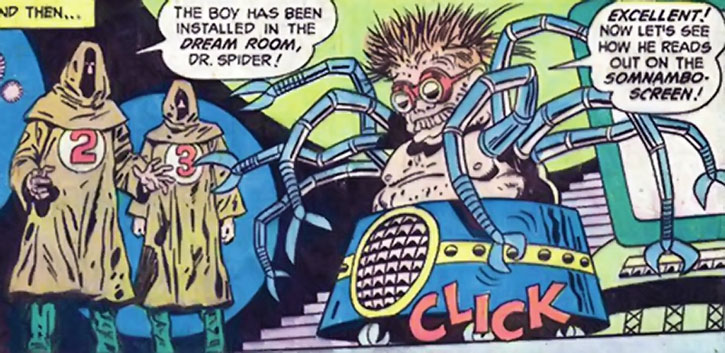 Doctor Spider and a pair of henchmen