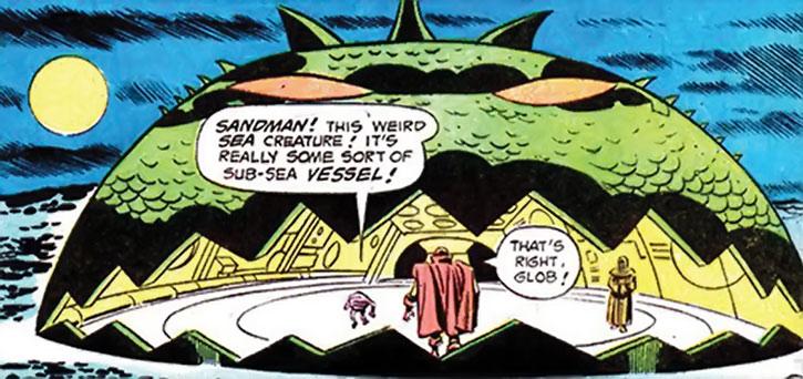 Doctor Spider's monster submarine