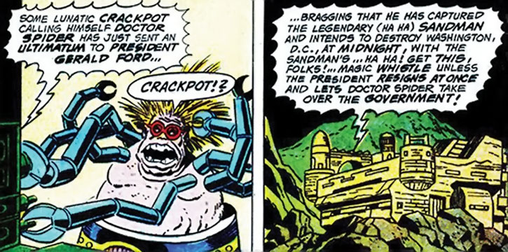 Doctor Spider and his undersea fortress