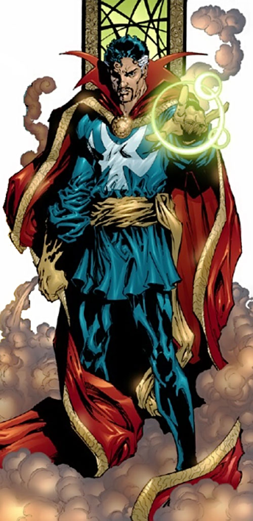 Doctor Strange (Marvel Comics) standing in magical smoke