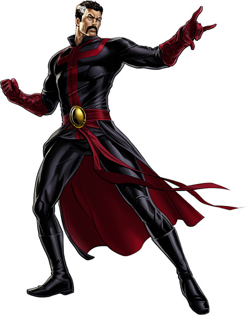 Doctor Strange (Marvel Comics) in the deep purple dark costume
