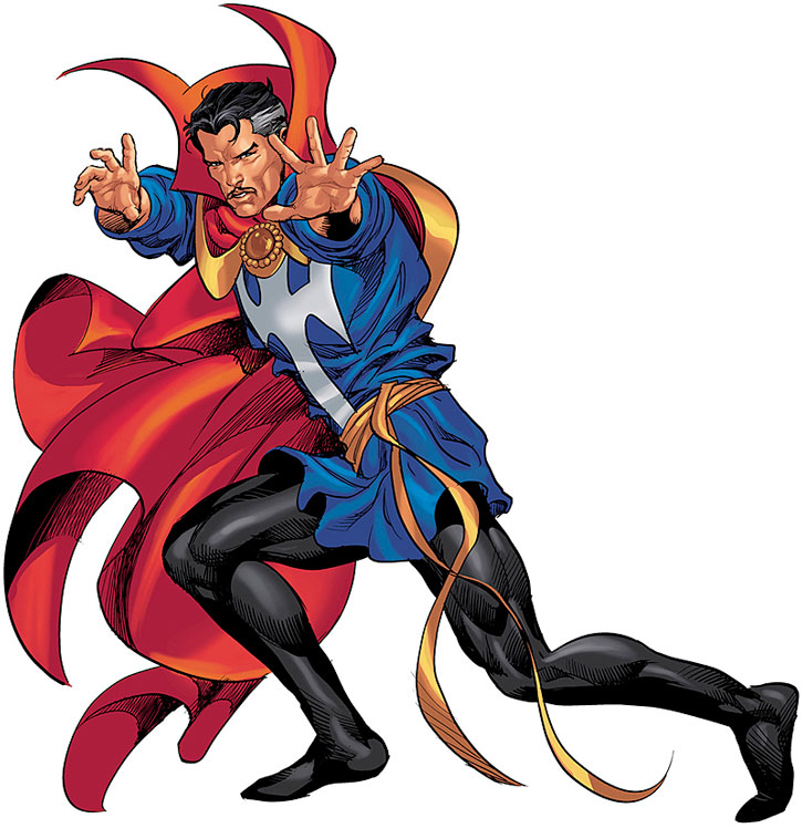 Doctor Strange in a dramatic pose