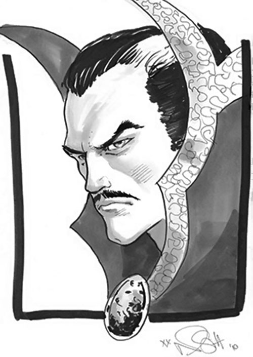 Doctor Strange (Marvel Comics) face closeup by Lopresti