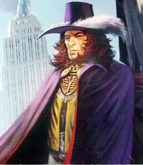 Doctor Tachyon (Wild Cards novels) in his violet cloak and hat