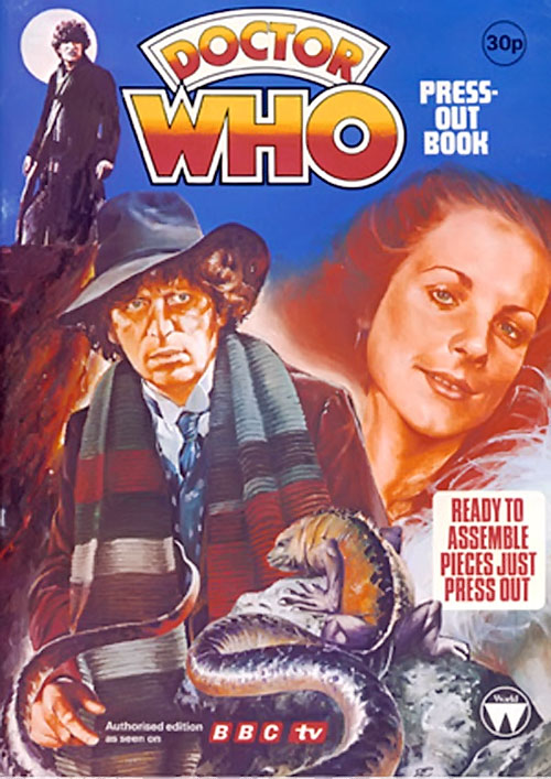 Doctor Who BBC press-out book cover