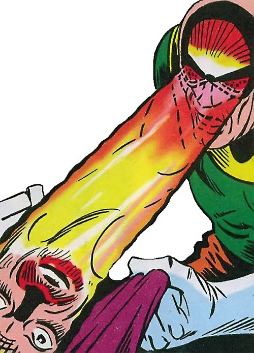 Doctor Z.Z. (Shade the Changing Man enemy) (DC Comics Ditko) shooting eye beams
