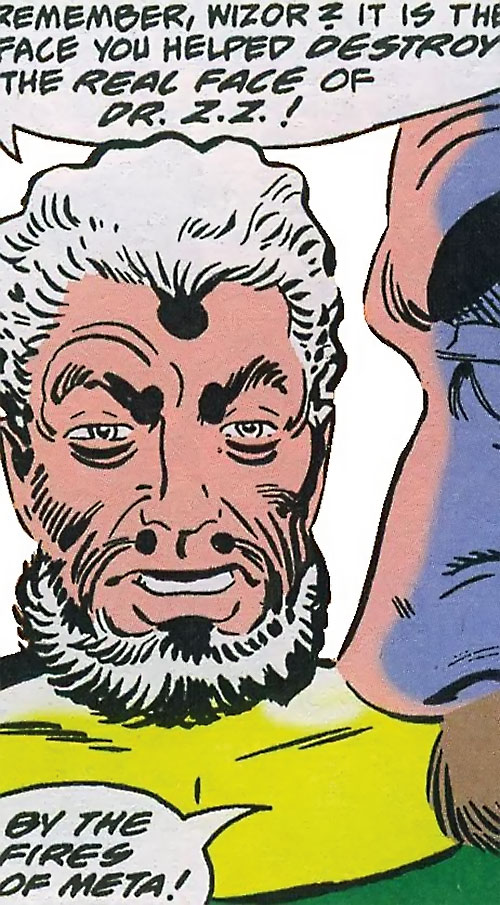 Doctor Z.Z. (Shade the Changing Man enemy) (DC Comics Ditko) normal face