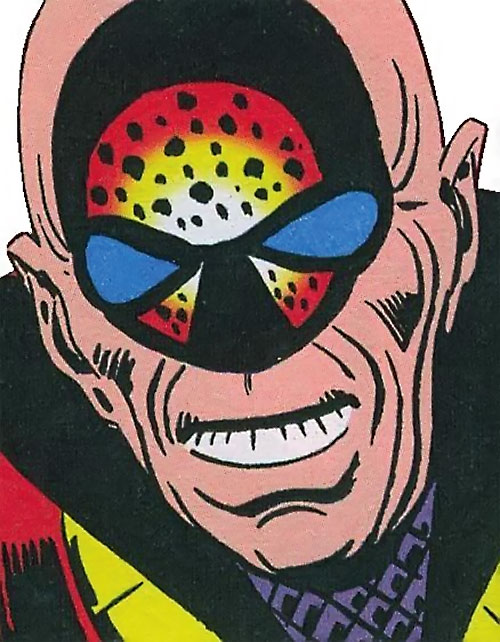 Doctor Z.Z. (Shade the Changing Man enemy) (DC Comics Ditko) face closeup
