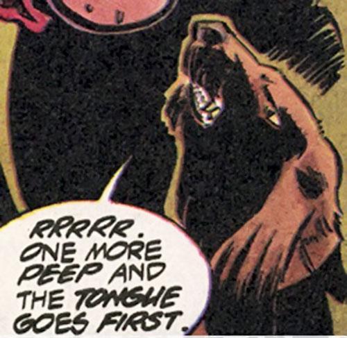 Dogg (Blood Syndicate) (Milestone Comics) head closeup
