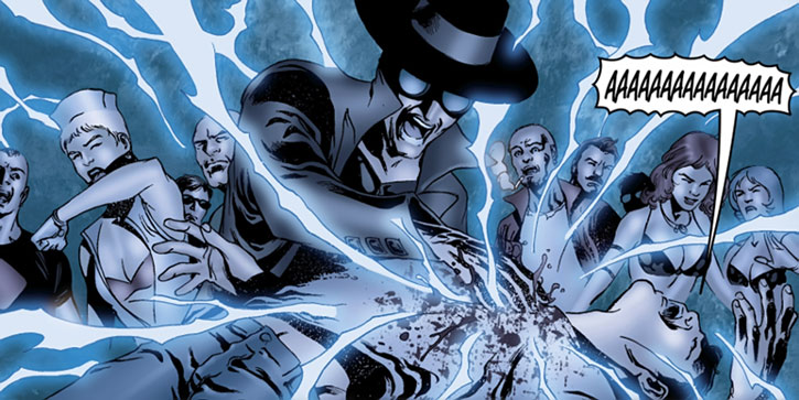 Doktor Sleepless (Ellis Avatar Comics) restarting a man's heart with lightning