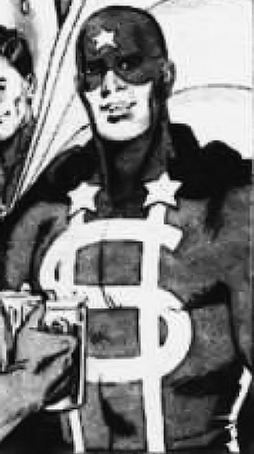 Dollar Bill of the Minutemen (Alan Moore Watchmen comics) B&W art
