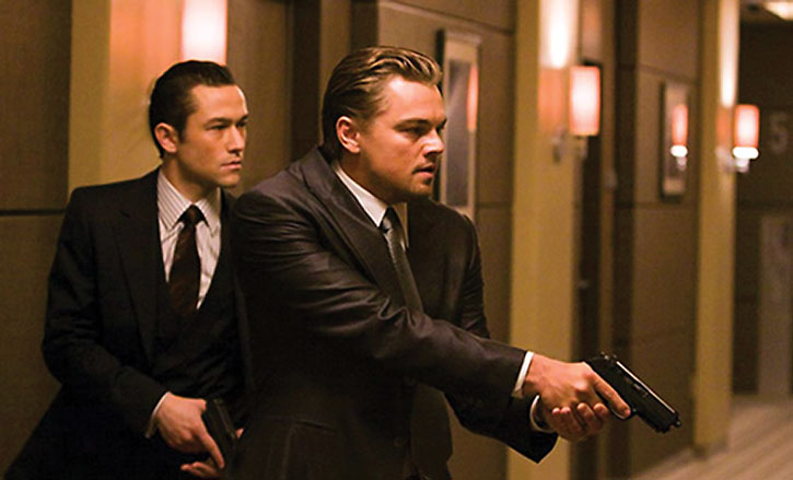 Dom Cobb (Leonardo di Caprio) and Arthur (Joseph Gordon-Levitt)