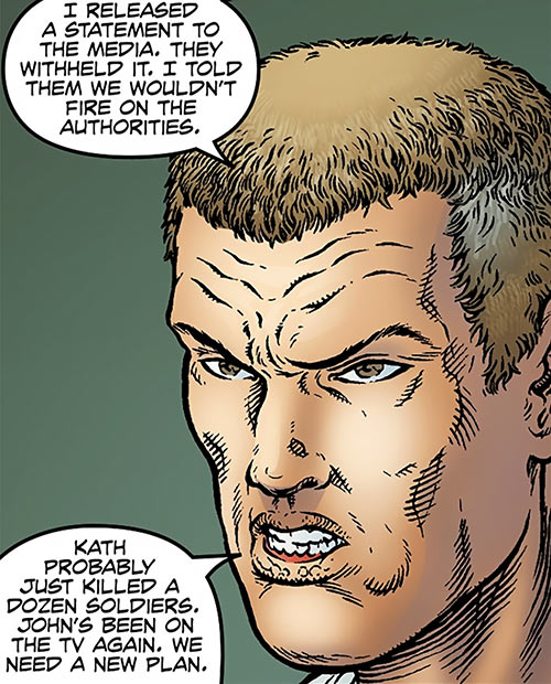 Dominic Atlas (Black Summer Avatar Comics) portrait closeup