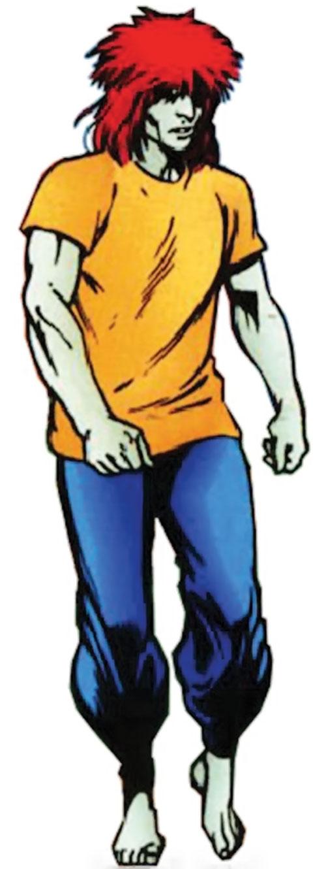 Dominic Destine of Clan Destine (Marvel Comics) in an orange T-shirt