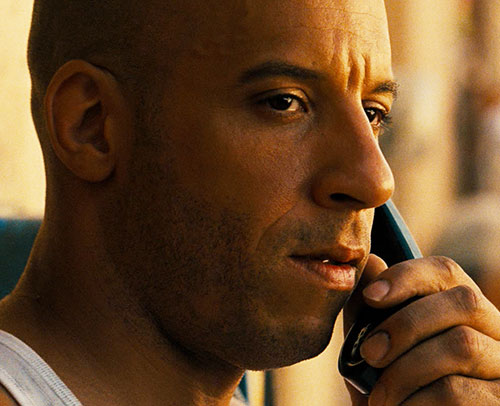 Dominic Toretto (Vin Diesel in Fast and Furious) face closeup