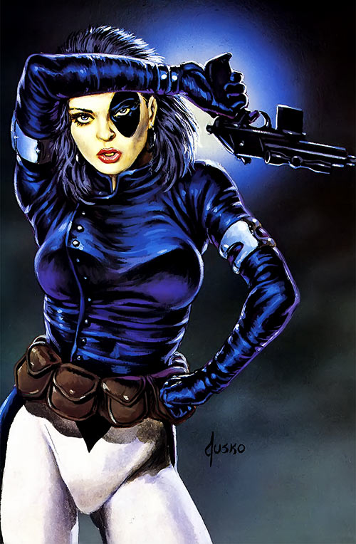 Domino of X-Force (Marvel Comics) by Joe Jusko